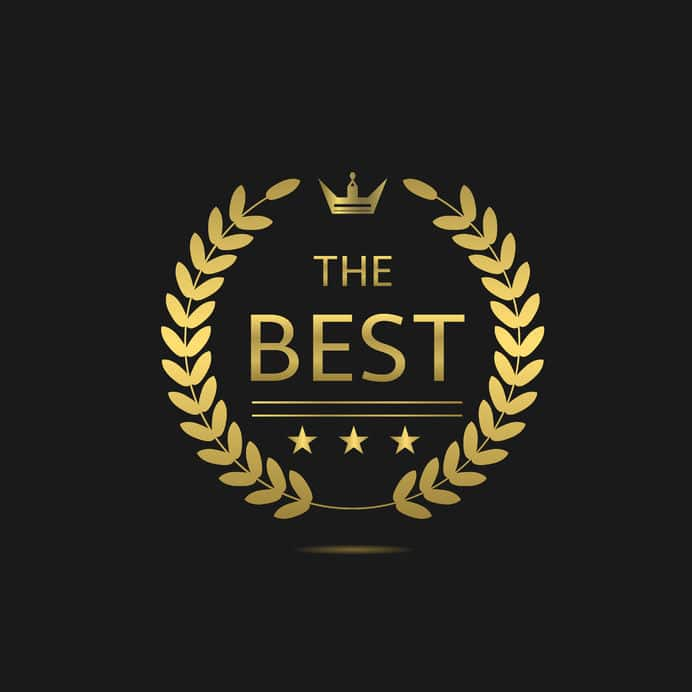 the best and most energy efficient air conditioner award in gold with black background