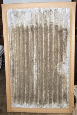 dirty air filter that caused ac to freeze up
