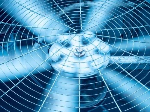 ac fan spinning