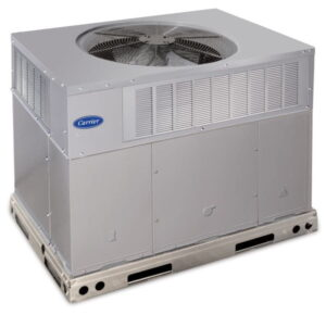 Carrier hvac packaged unit with white background